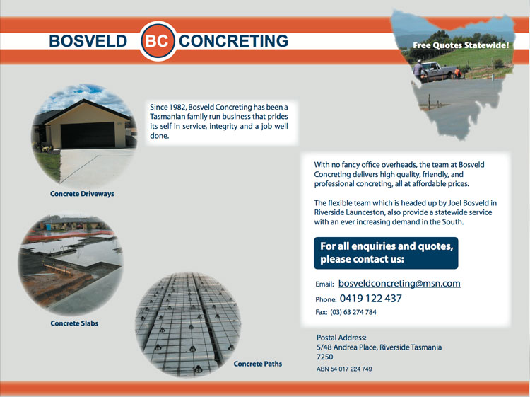New Concreting Website